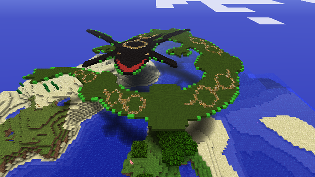 Day rayquaza in Minecraaft by that1p3rson