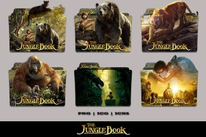 The Jungle Book (2016) Folder Icon Pack by Bl4CKSL4YER