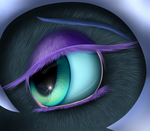 Pony Eye Series: Nightmare Moon by Crazyaniknowit