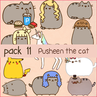 Pusheen Pack PNG by ThingsWithSwaag