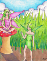 Green and Pink by CatTheNinja