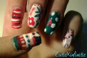 Pattern Crazy Nails by CutieXinfinitie