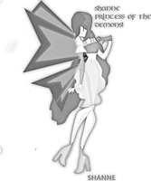 New OC! Shanne Fairy of the Demons! (Pencil) by CrystalisZelda