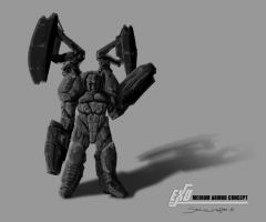 Male Medium Armor Concept by psypher101