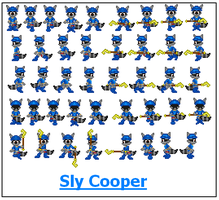 New Sly Cooper Sheet by SWSU-Master