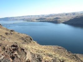 Columbia River Landscape Left by RFHartwell