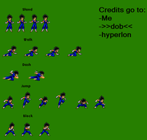 Vegeto Normal Moves by SalTheSpriter