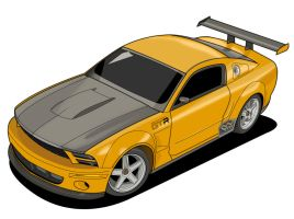 Vector Mustang by donbenni