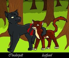 Cinderpelt and Leafpool by icrystalline
