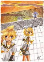 Len, Rin and.......Kaito? by Nekkohime