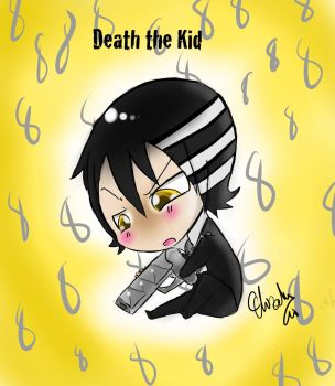 Death The Kid Chibi- Colored by chissyrulez94
