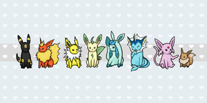 Eeveelution Group Shot by atomicspacemonkey