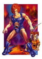 Lion-O and Wiley Kat by HisHalfElf