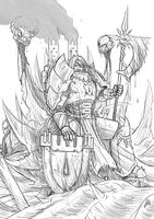 40k- Serberus The Immortal [Sketch] by RedSkittlez-DA