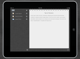 TextPad for iPad UI Design by ashzilladesign