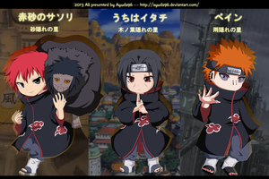NS : Sasori, Itachi, Pain by Ayuda96
