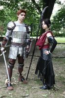 DA:Alistair and Morrigan by kura-and-something