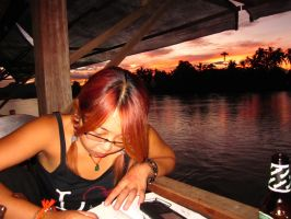 Drawing in Laos by Thenextera