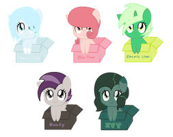 Box pony adopts! -name your price- [closed!] by caecii