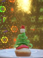 Christmastree cupcake by VPofFantasyland