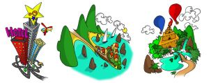 Rik and Rok - Map Icons by LPCD