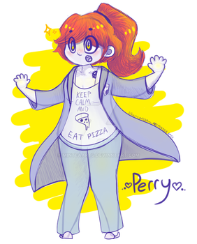 Perry- OC Concept Sketch by MinteaArts