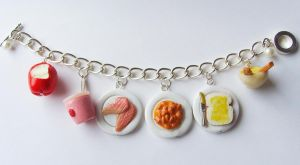 11th Doctor Who Food Bracelet 2.0 by tyney123