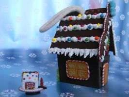 Gingerbread House Ornament-Side View 1 by ThePetiteShop