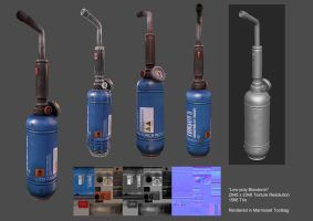 Low-poly Blowtorch by mhofever