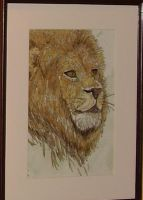 Lion painting by LARvonCL