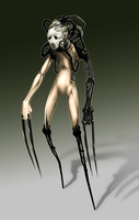 Biomechanical Drone by jagged-snail