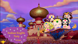 the genie team flying around Agrabah by grantgamez