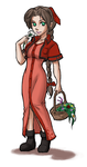 Aeris in Red by elddonnemar