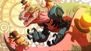 Gentleman Tyrannosaurus and Octopus Join Forces by bobmeatbag