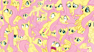 Fluttershies Everywhere! Wallpaper! by supamarioland