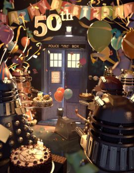 Happy 50th Birthday, Tardis. by uoa7