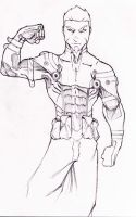 Ethan Galba, his a Elite Fist Member (front) by DrawlinesMisfits