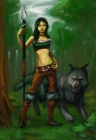Forest Hunter by L-MakesArt