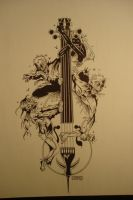 zombies on a cello by Jay-Allen-Hansen
