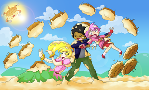 Request:Pie Ambush by Candy-Gal75