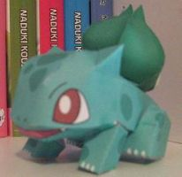 Papercraft Bulbasaur by inuyashashotty