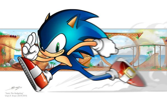 Sonic The Hedgehog by sergio-borges