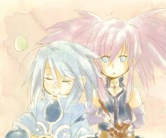Genis and Presea by Clover-Cat4