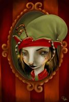 Christmas Elf - painted-ishi by childrensillustrator