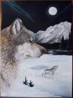 Northern Wolves by DarkIceWolf