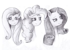MLP. Sketch 2 by JudiAnimation