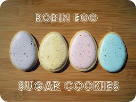 Robin Egg Sugar Cookies by cake4thought