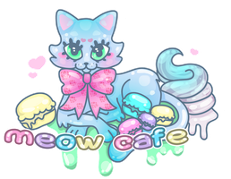 Meow Cafe Logo by MissJediflip