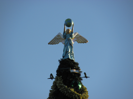 Angel Atop Christmas Tree at Epcot by WDWParksGal-Stock
