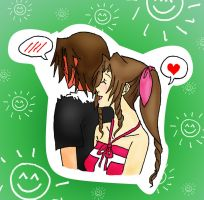 KH - Leon and Aerith by CherryBlossoms24